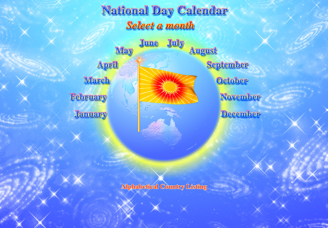 National Day Calendar Main Menu
